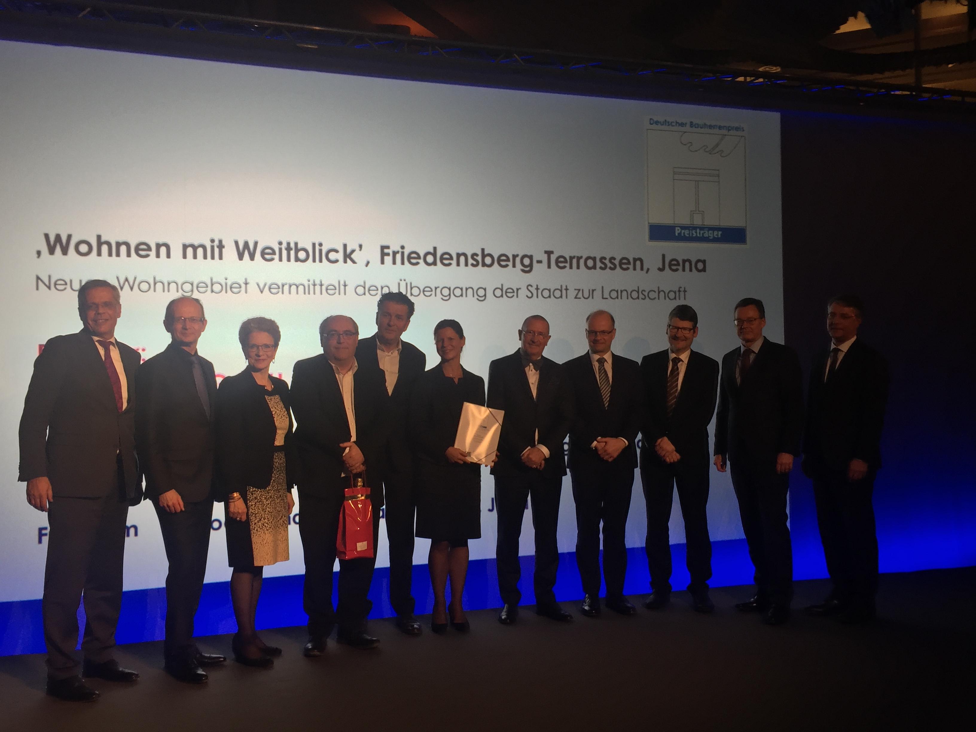 Deutscher Bauherrenpreis 2018 an jenawohnen GmbH verliehen
